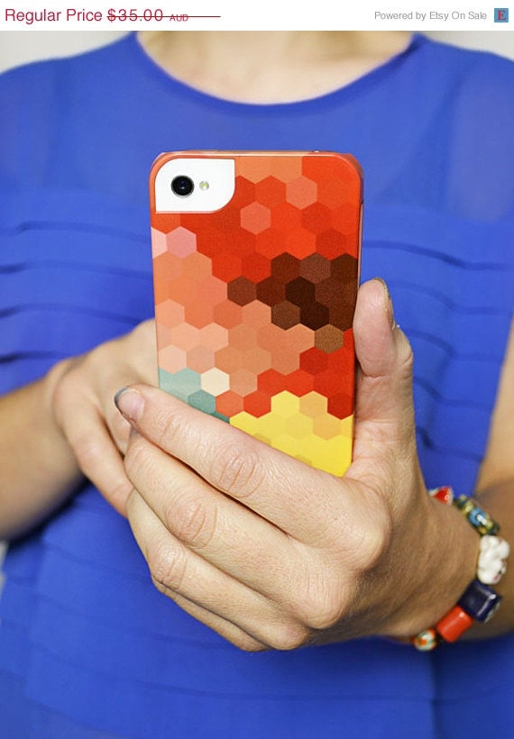 BIRTHDAY SALE Hexagon iPhone 5 Case - littlemissgee