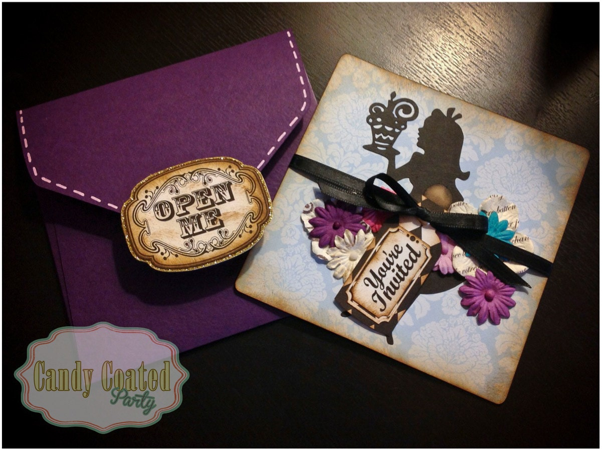 Alice In Wonderland Birthday Invites as nice invitation layout