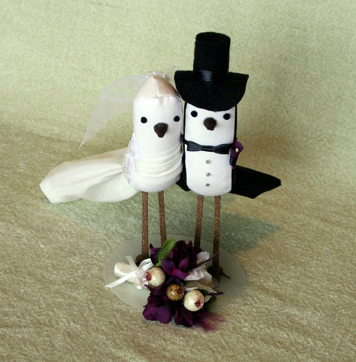 DIY Brides Make your own Wedding Bird Cake Topper with my pattern and