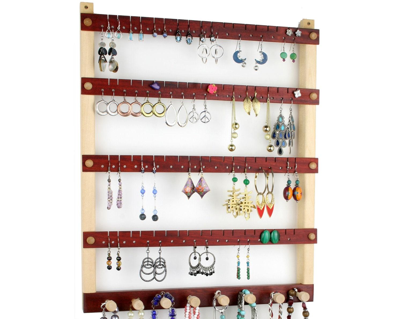 earring organizer hanging jewelry storage by