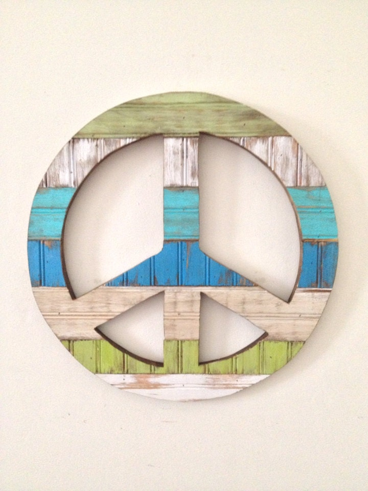 Rustic Wood Peace Sign Wall Decor By Shoponelove On Etsy