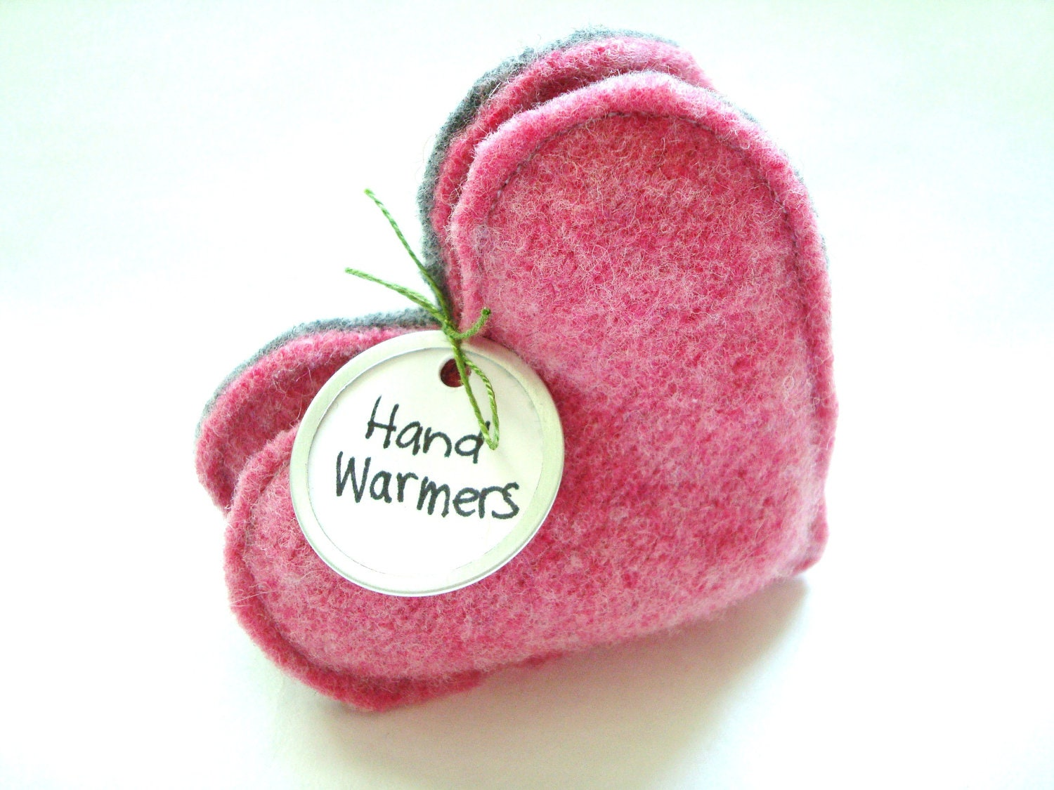 Heart Hand Warmers PINK Hearts for Breast Cancer Awareness Gift Handwarmers by WormeWoole - WormeWoole