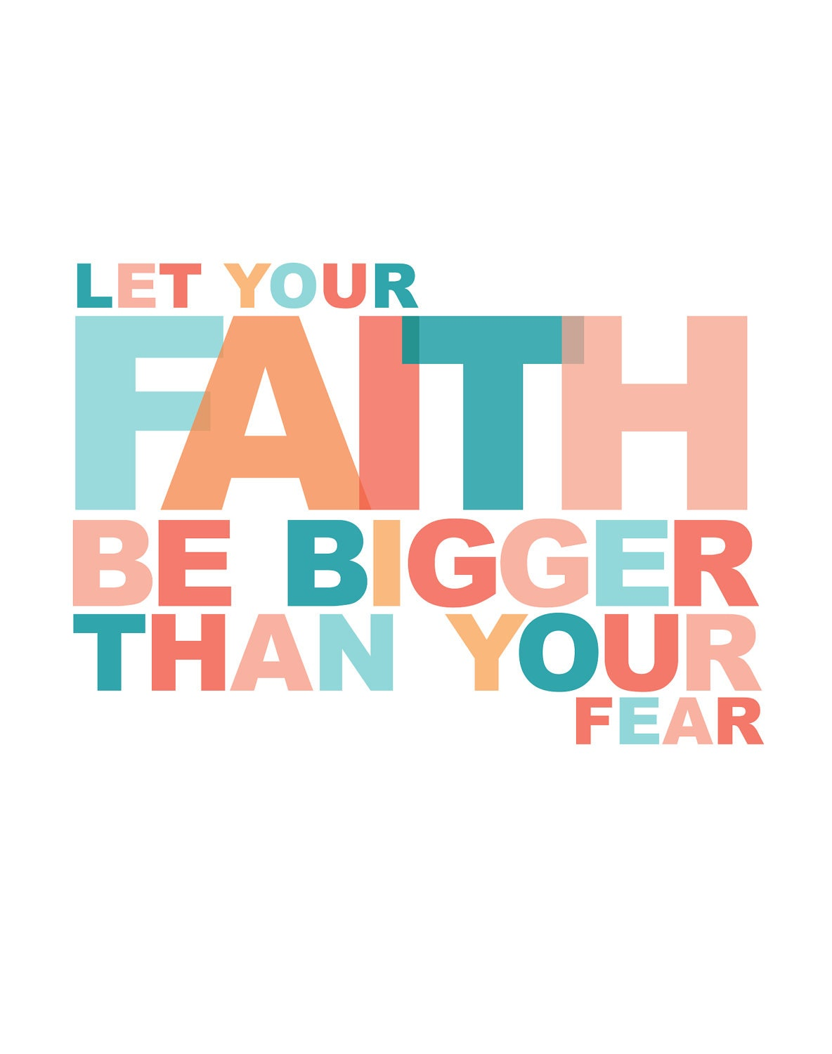 items similar to 11x14 poster let your faith be bigger