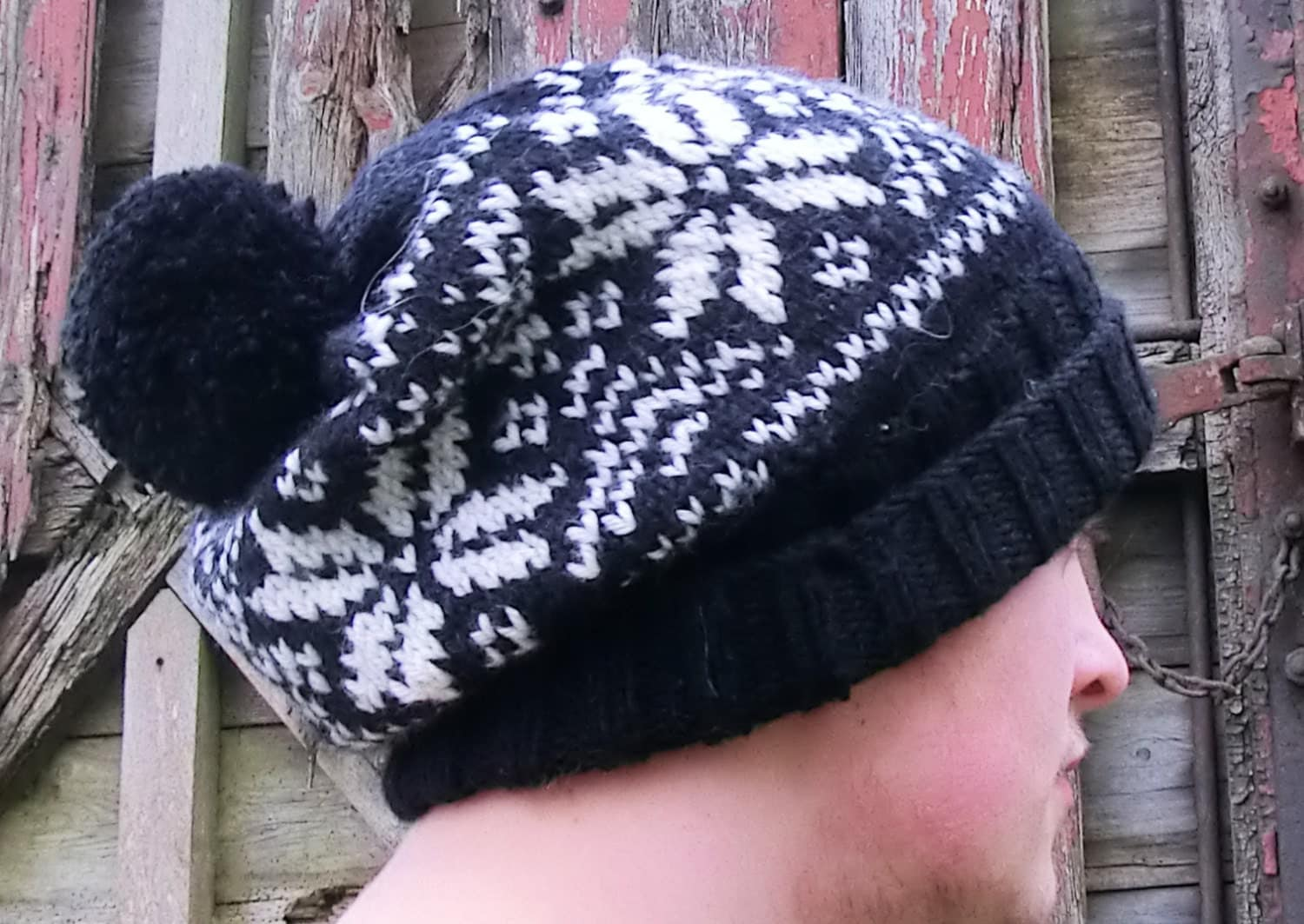 Knitting Patterns For Nordic Hats : Nordic Hat with Bobble. PDF Knitting PATTERN by RuthMaddock