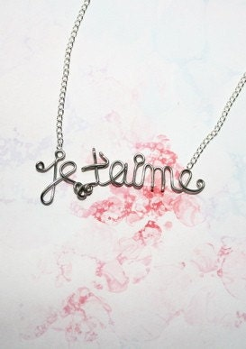 je t aime necklace i you by exaltation