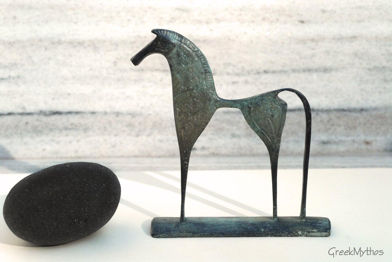 Greek Geometric Bronze Horse - GreekMythos