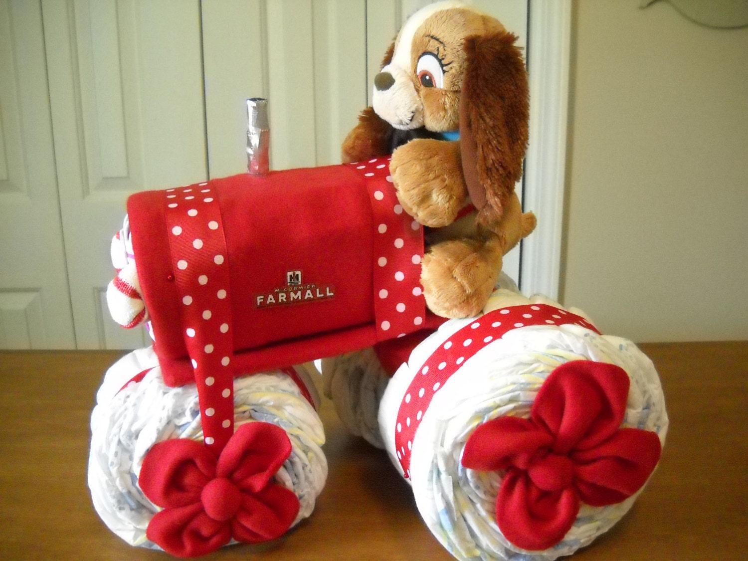 Farmall Tractor Diaper Cake By Shelvasdiapercakes On Etsy