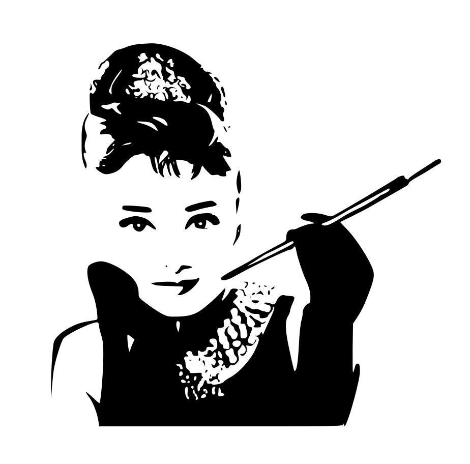 Items similar to Audrey Hepburn Pop Art Silhouette Vinyl ...