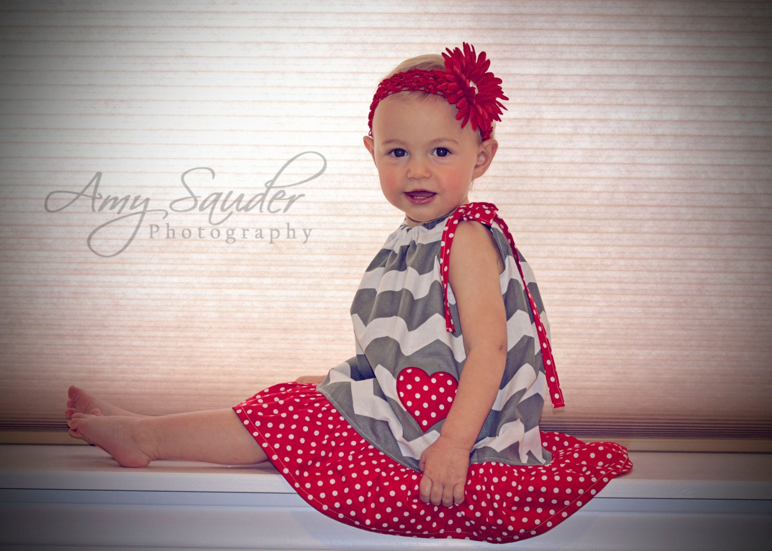 Valentines Pillowcase Dress Sizes 12m-8 - littlepetuniadesigns