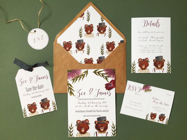 mr  mrs wedding invitations  save the date  details rsvp package SAMPLE SETS ONLY