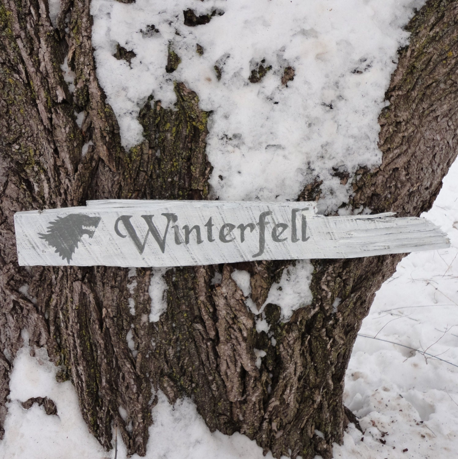 Winterfell Wooden Directional Sign - CurioObscurio