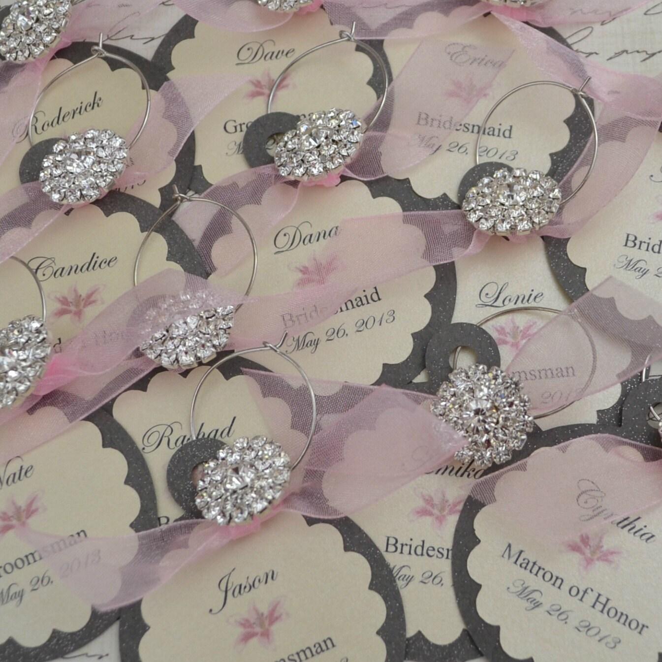 items similar to wedding wine charm favors customized