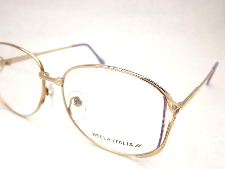 womens eyeglasses gold metal lavender purple by dontuwantme