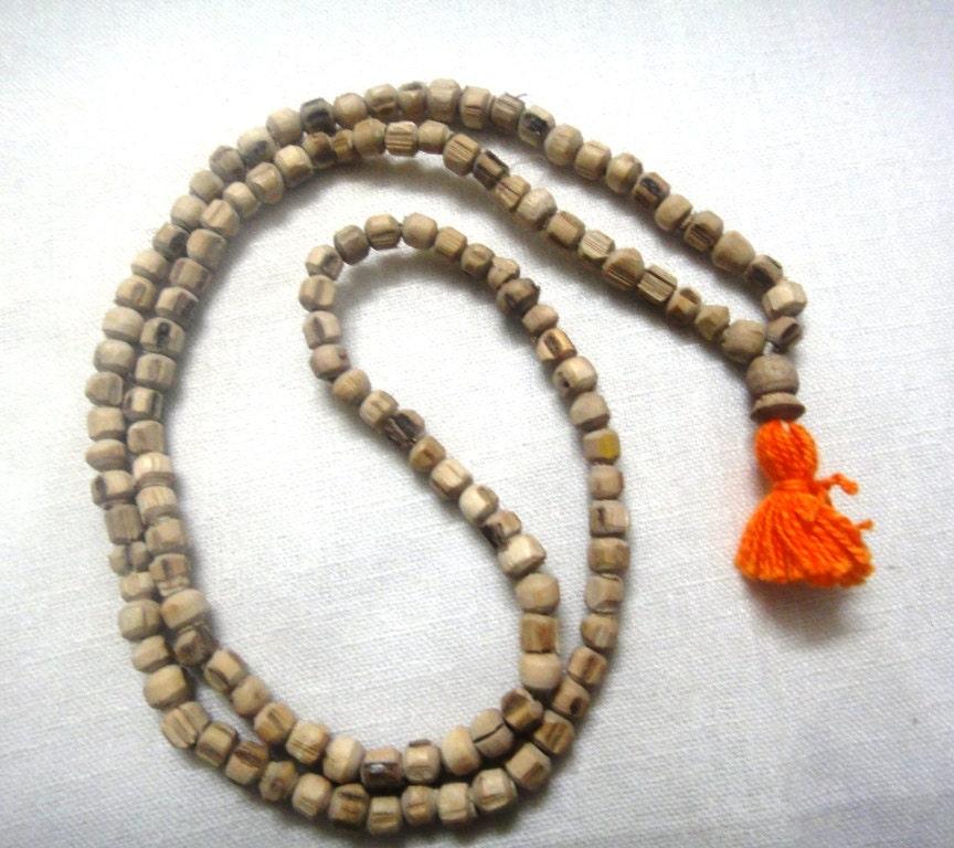 tulsi mala necklace by monascreation on etsy