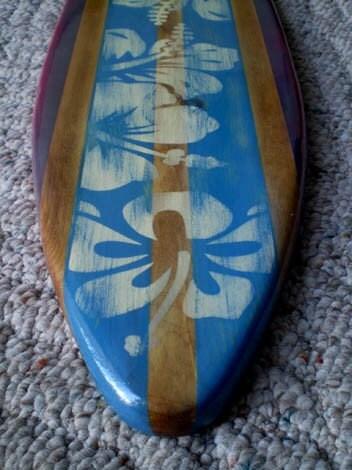 vintage wood surf board