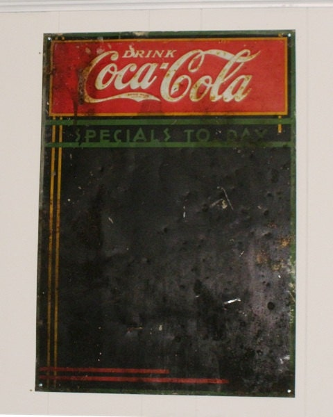 Coca Cola Metal Menu Board Sign 1930s Vintage By Aretrofit
