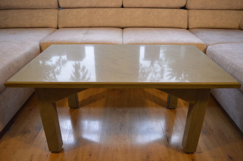 Natural Stone High Gloss Polished Coffee Table 100 x 60 cm