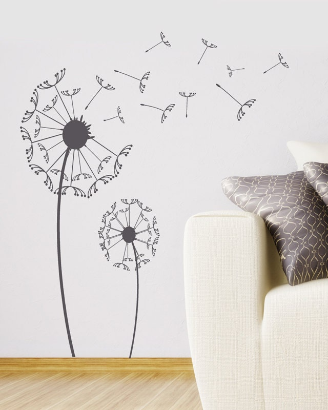 Office Wall Decor Set : Dandelion wall decal large sticker set with by