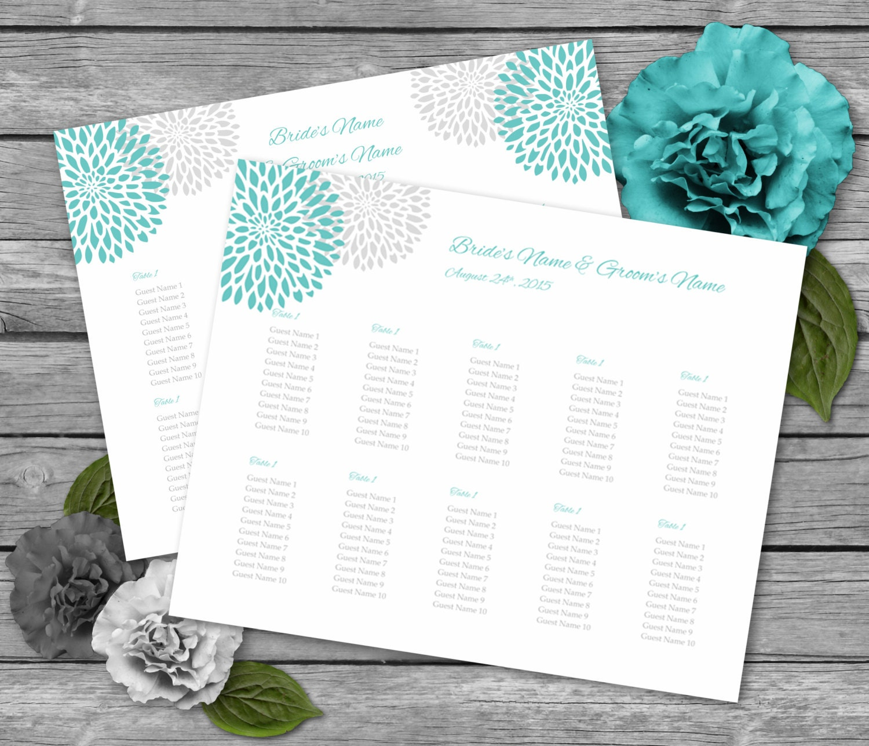 Wedding seating charts templates 2