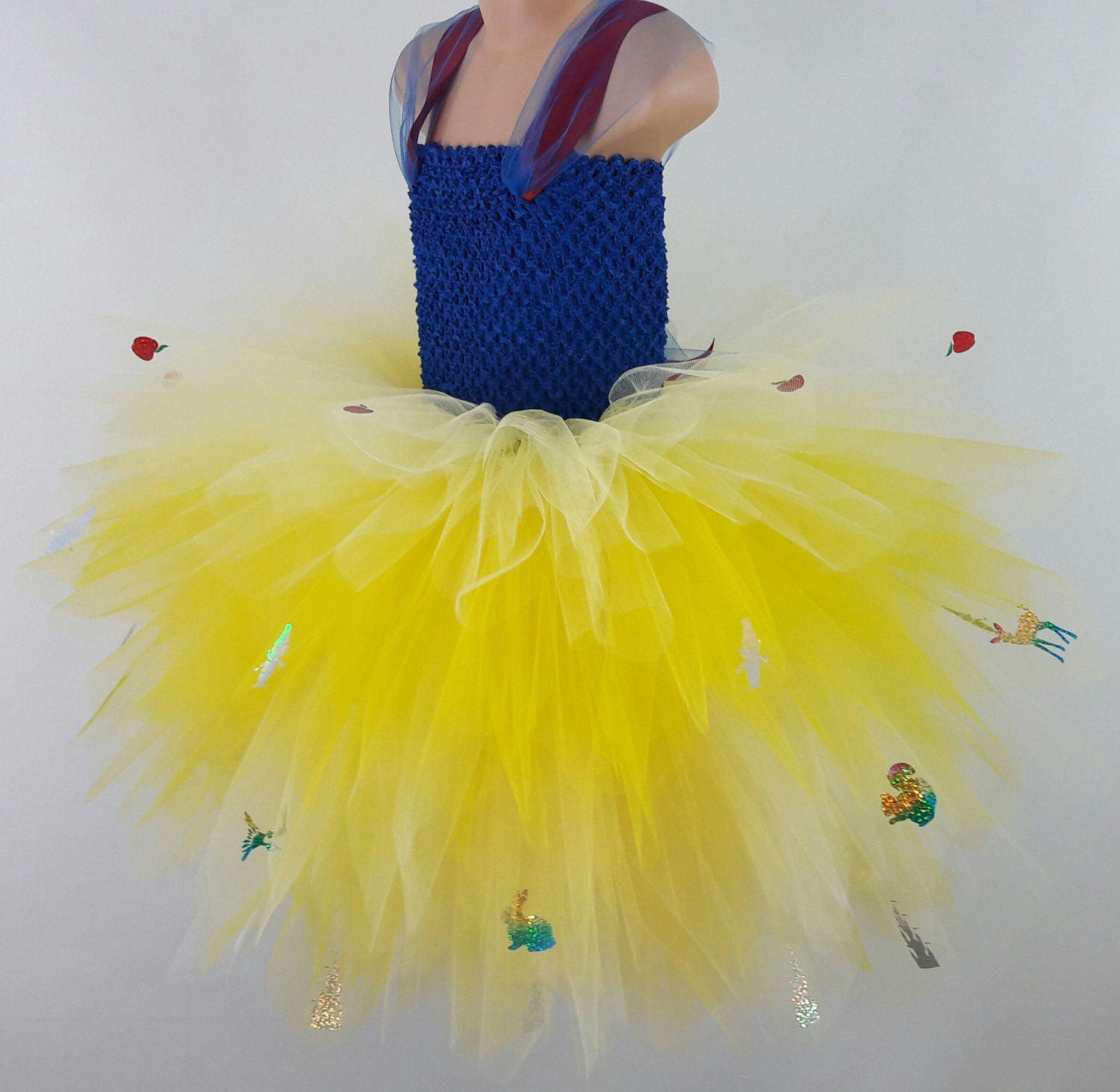 Inspired Snow White Long Multi Layered Adult Tutu Dress Perfect for PartiesPhoto ShootCosplay Dress Up
