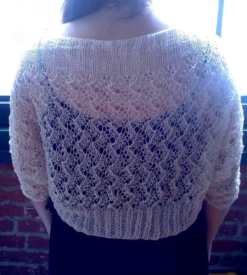 Pdf HOARFROST LACE SHRUG Knitting Pattern in 2 by heirloomlace