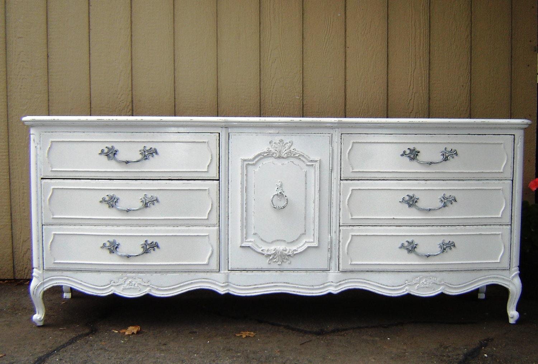 Fabulous vintage white shabby chic dresser by seasidefurnitureshop