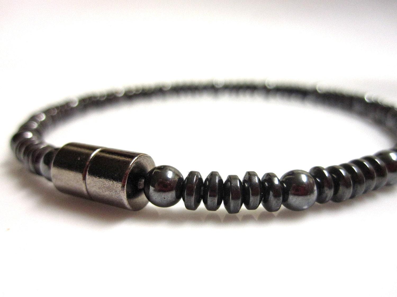 Magnetic Hematite Bracelet - Black