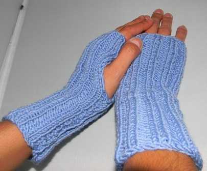 Fingerless Gloves Knitting Pattern Beginner : Items similar to Knit pattern for fingerless gloves, knitting pattern for wri...