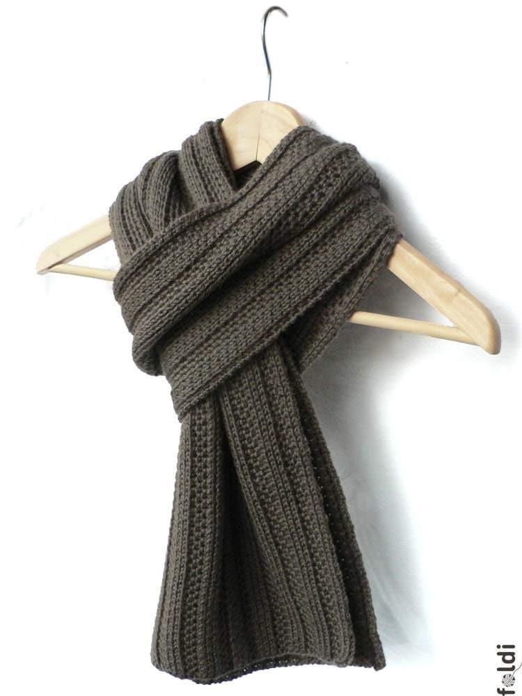 Truffle camel scarf - foldi