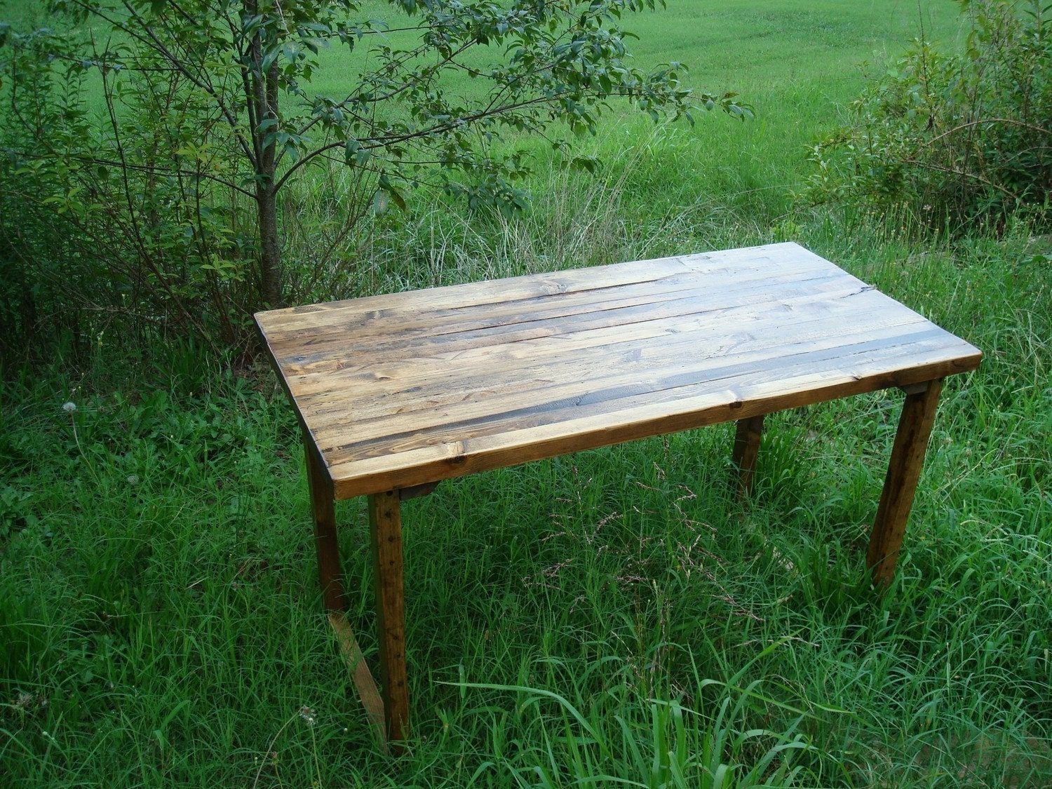 Reclaimed Barnwood Table Rustic Wood Table by