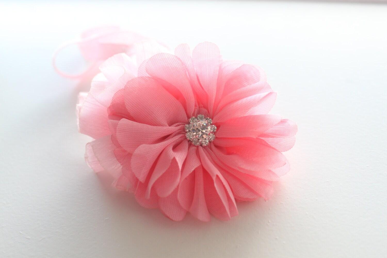 Valentine's Day Headband - Pink Flower Headband - Childrens Headband - Hair Accessory - Pink Headband - Newborn Headband - Photography Prop - kayleemarieboutique