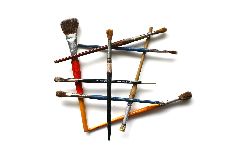 Quit Lying Around - 8x10 Print Vintage Paintbrushes Fine Art Photograph - Geometric - BecaShoots