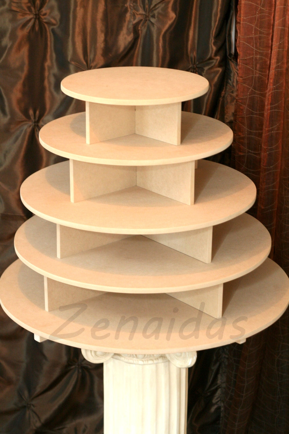How to make a cupcake stand out of wood woodworking for Cupcake stand plans