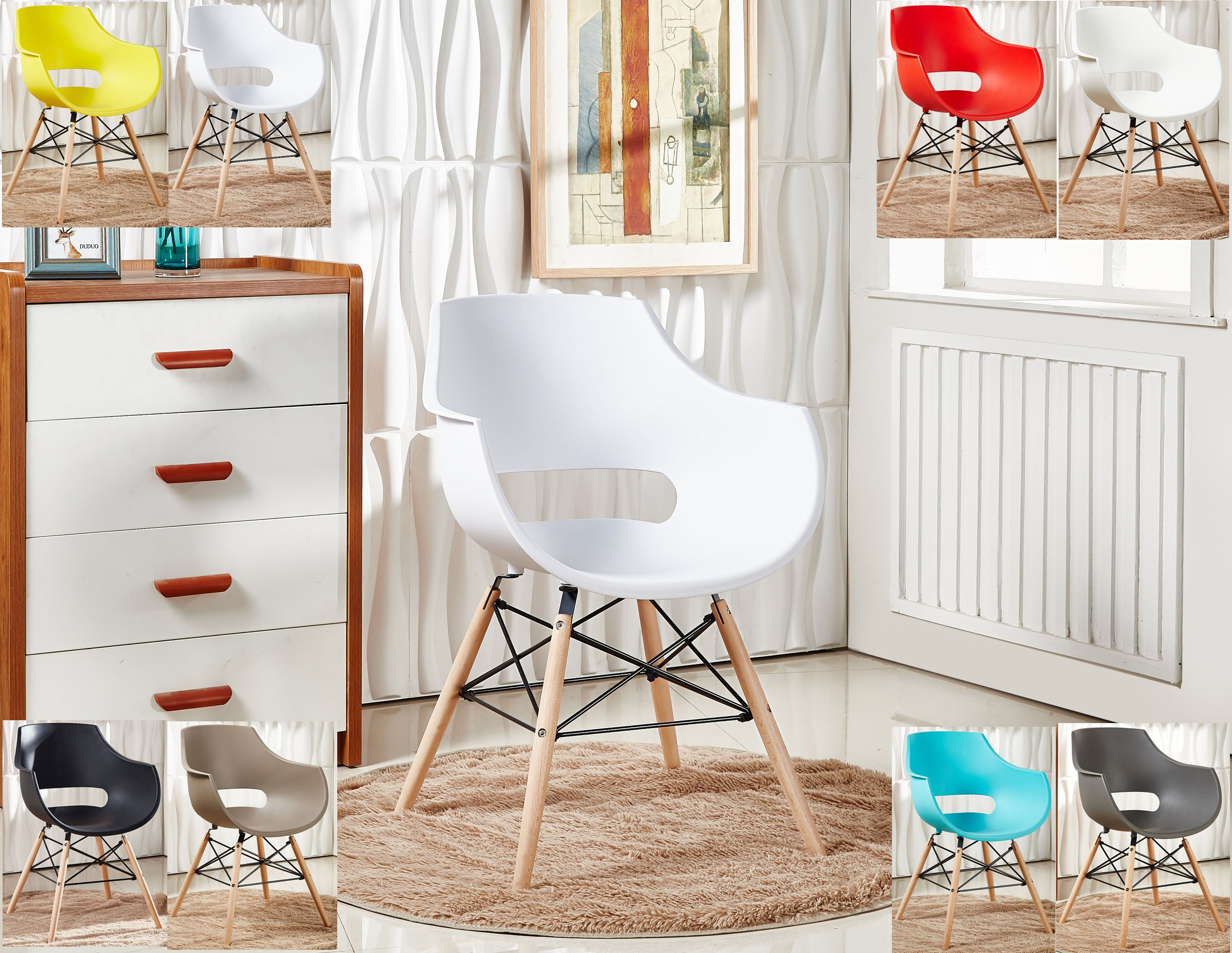 EAMES DAW Style Olivia Chair design  chaise DAW design scandinave Dining Chair or Office Chair