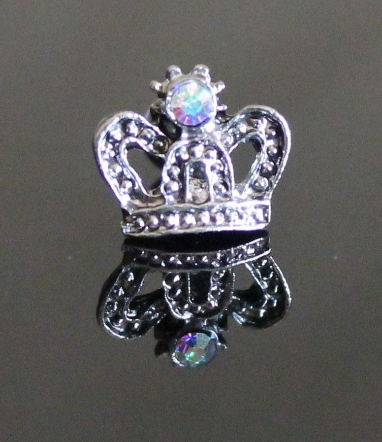 Crown jewel cartilage tragus ear piercing body jewelry for Helix piercing jewelry canada