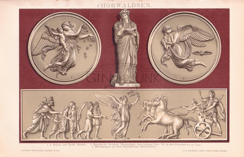 ANTIQUE STATUE PRINT Statue Print Greek Sculpture Statue Plate Art Print Art Lithograph Antique Art Art Sculpture Greece Greek