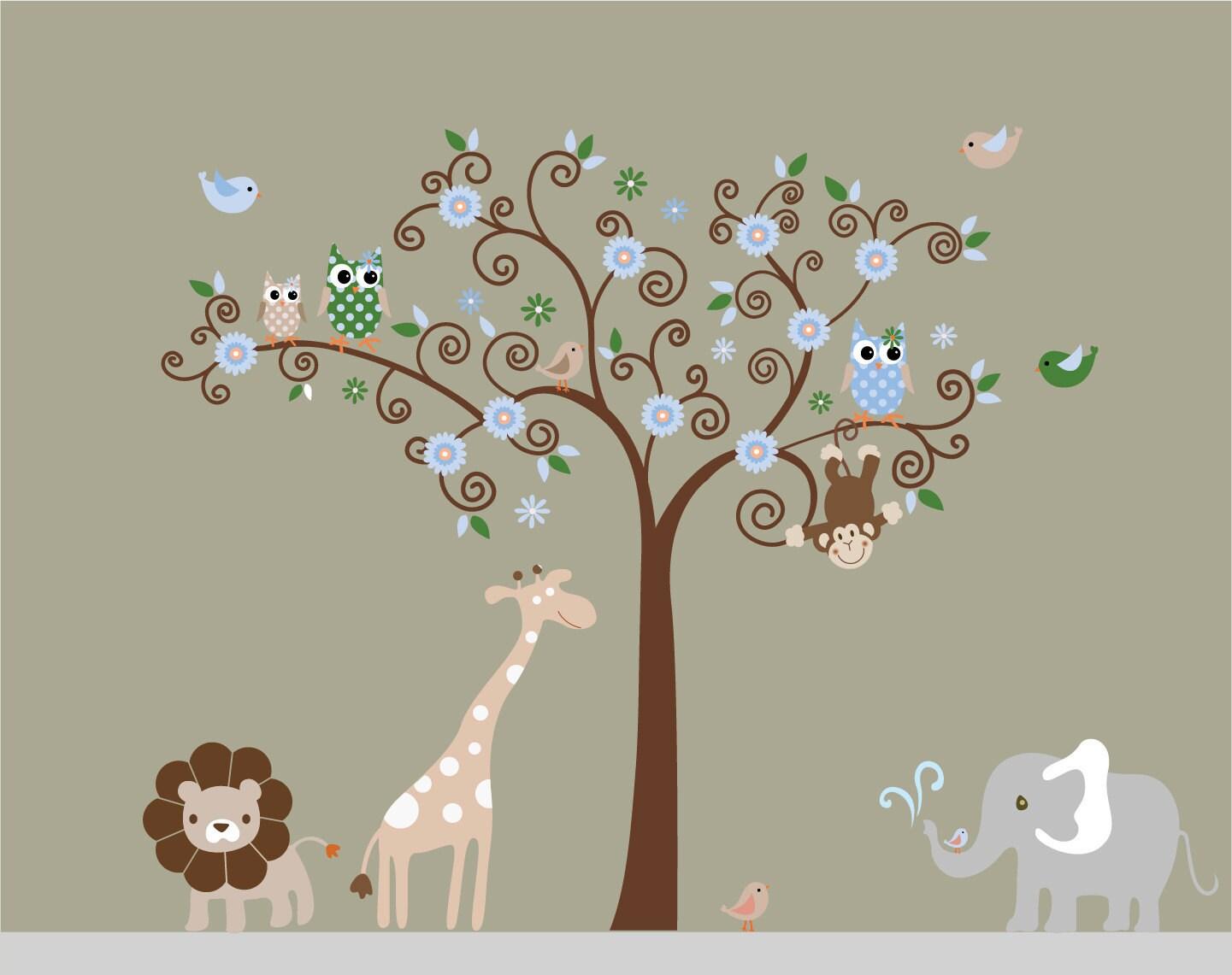 safari wall decals 2017 grasscloth wallpaper