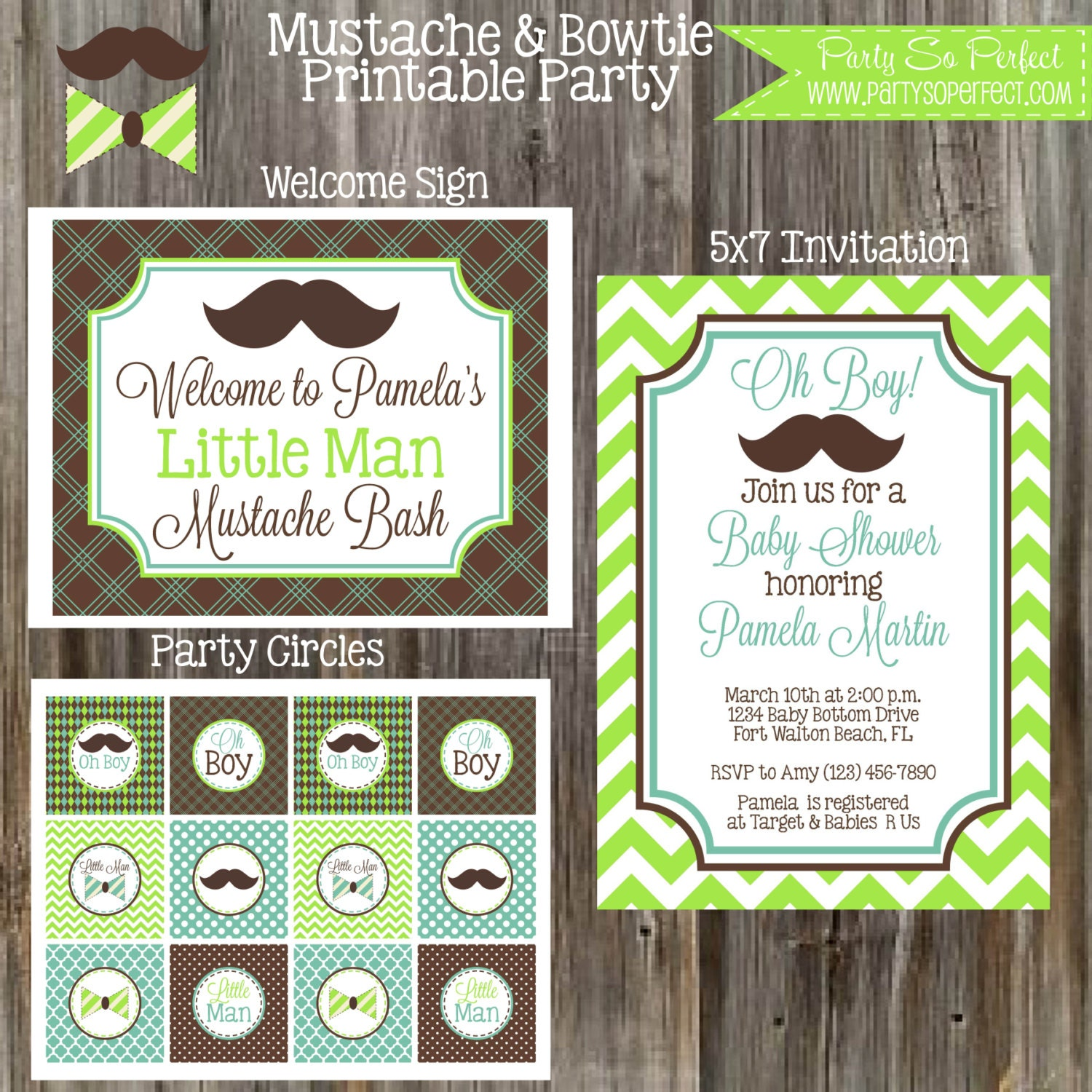 little man mustache bash baby shower package boy diy printable