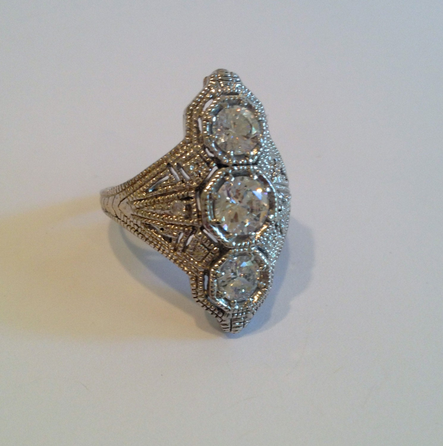 vintage sterling silver estate jewelry ring by