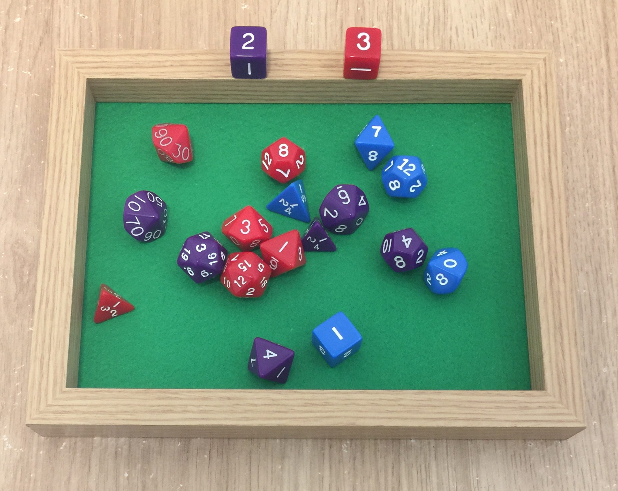 New Rectangular Dice Box  Tray (Single Layer) by customdicebox.com