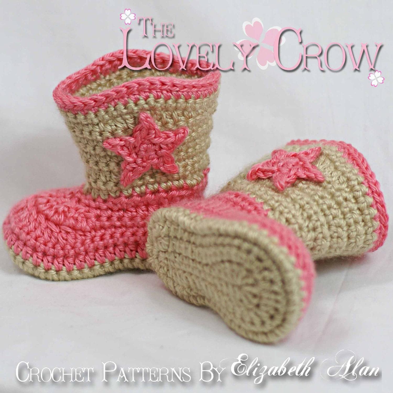 CROCHET COWBOY BOOT PATTERN – Crochet Patterns