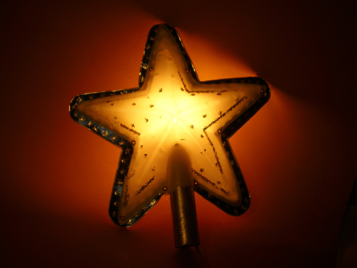 Christmas Tree Top Star Lighted Holiday Decoration Original Box