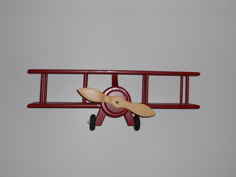 Handmade wooden airplane wall hanger by dutchscraftshop on