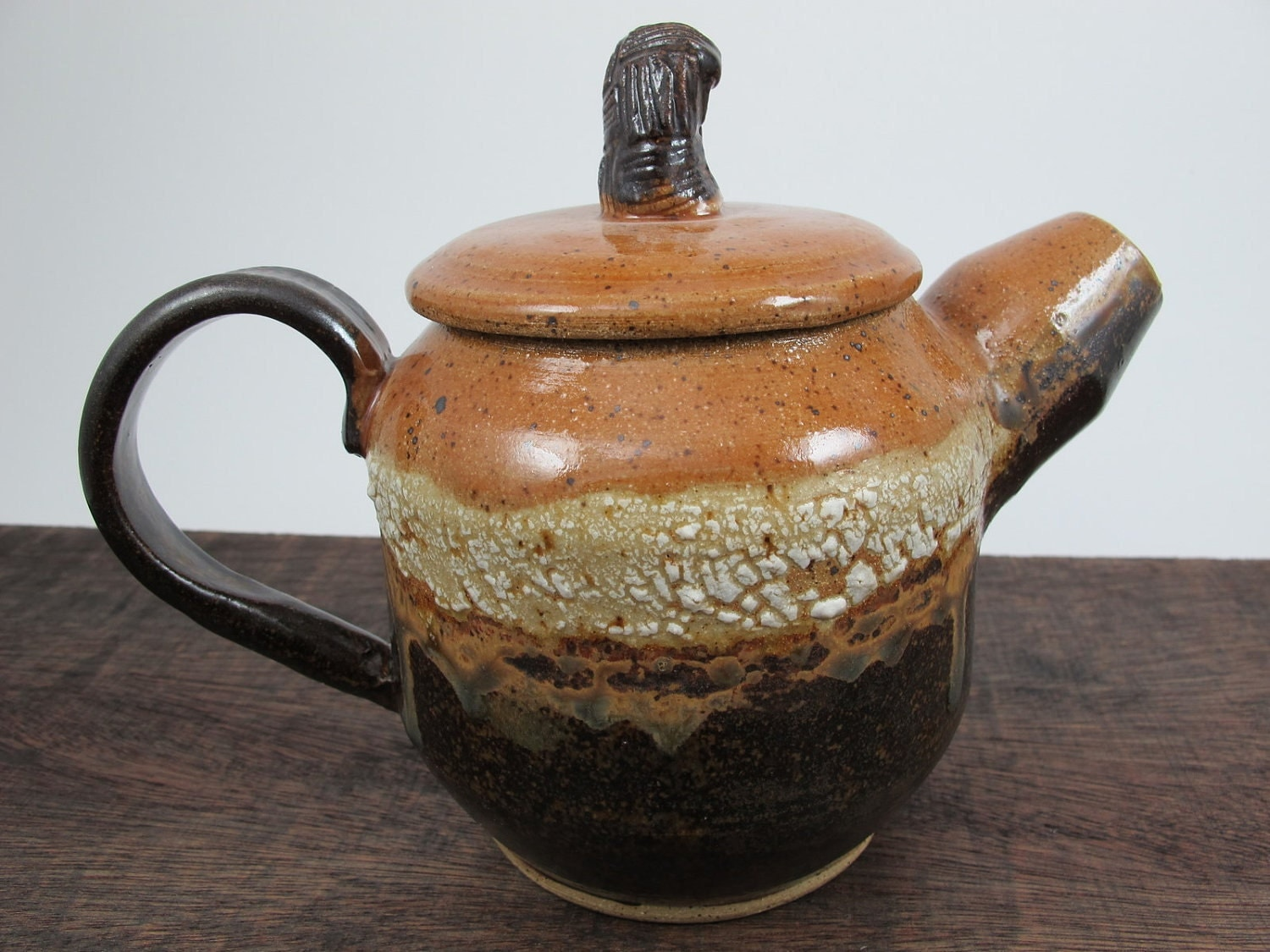 Stoneware Teapot in Brown Tones // Handmade Pottery Teapot