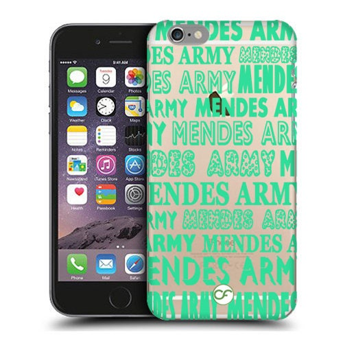 Shawn Mendes Army Clear Phone Case for iPhone Cases iPod Touch Cases and Samsung Galaxy Cases