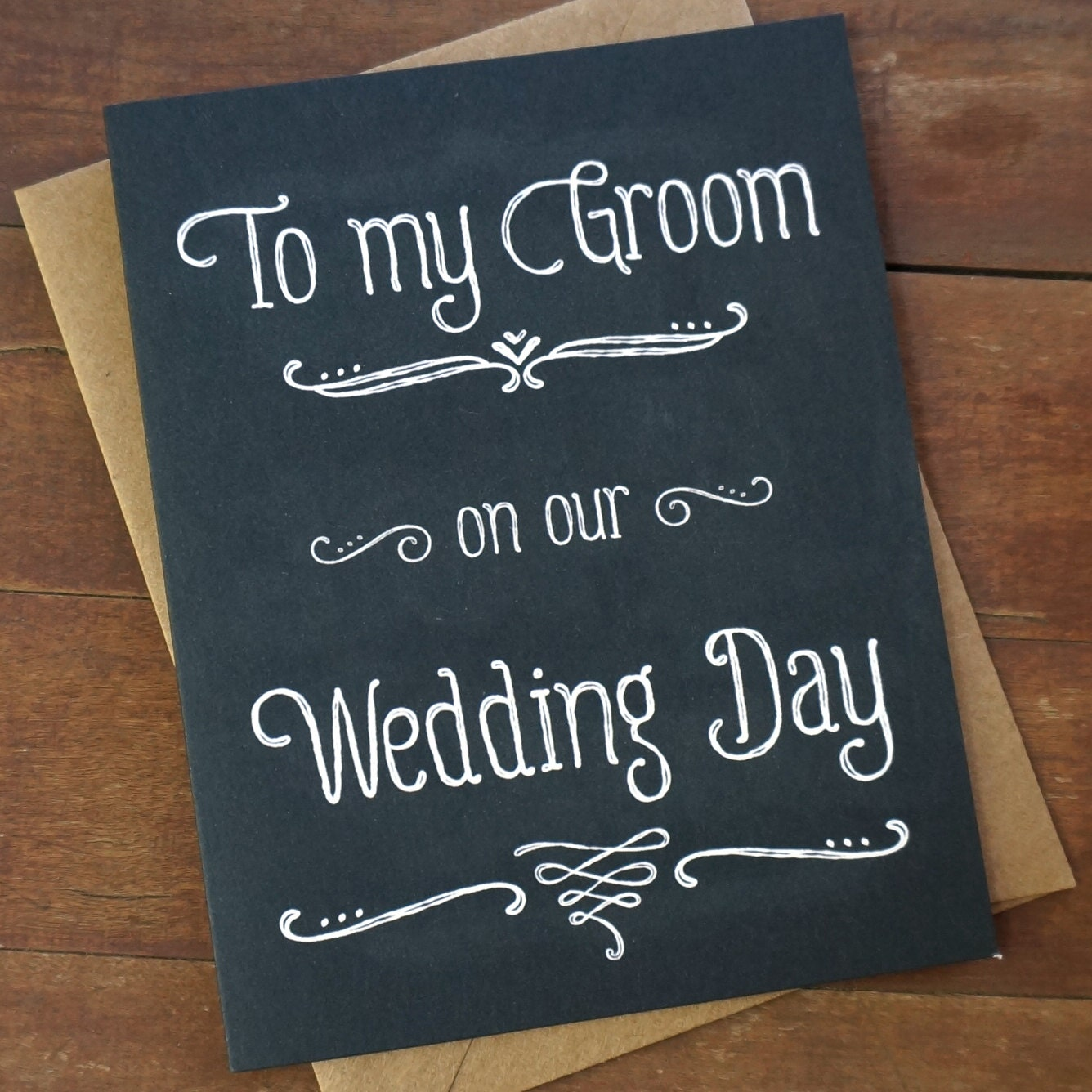 Wedding Day Presents For Groom From Bride : ... Wedding Day - Wedding Day Card - Groom Gift - Grooms gift from bride