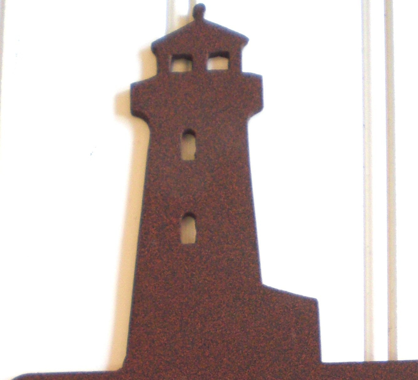 Lighthouse double switch cover wall plate rust rustic by for Lighthouse switch plates