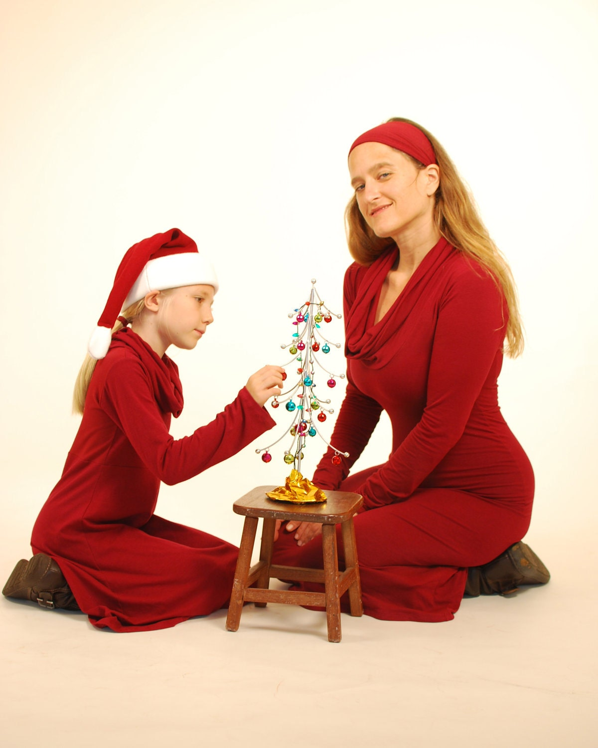 Mother Daughter Christmas Dresses hd photo