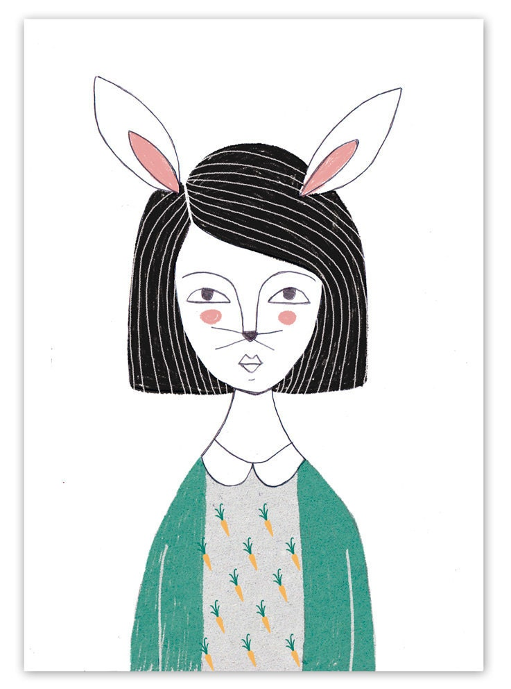Rabbit girl - NuriaDiazShop