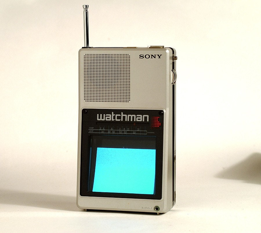 Price Reduced Sony Watchman Tv By Onebigeye On Etsy